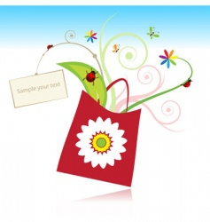gift with card vector image