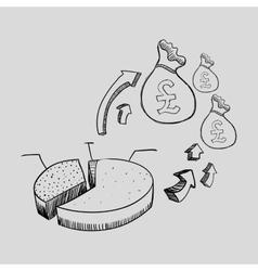 Sketch icon money concept flat illiustration vector