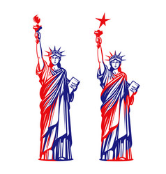 statue of liberty freedom usa symbol or icon vector image