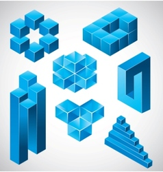 Abstract design impossible objects vector