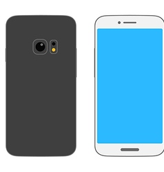 Abstract style modern smartphones mockup vector image