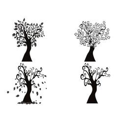 black season tree vector image vector image