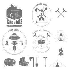 Outdoor Recreation Badge Set vector image vector image