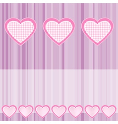 valentines hearts vector image vector image