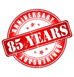 5 years anniversary stamp vector image
