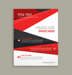 Business brochure flyer design vector
