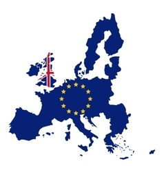 Isolated brexit map design vector image