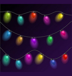 set of multicolored garlands beautiful holidays vector image