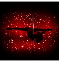 Sexy silhouette of a female stripper vector image