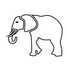 elephant black color icon vector image vector image