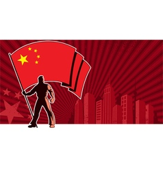 Flag Bearer China Background vector image