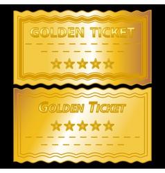 golden tickets vector image