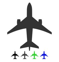 Jet plane flat icon vector