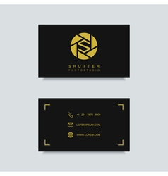 photography business card template vector image vector image