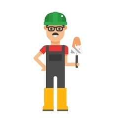 Serviceman builder professional and worker vector image