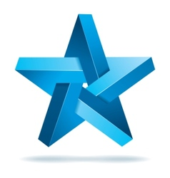 unreal geometrical star vector image vector image