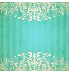 Vintage frame and grungy paper for design vector image vector image