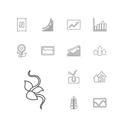 13 growth icons vector