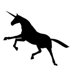 a beautiful unicorn figure isolated vector image