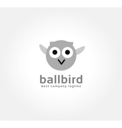 Abstract cartoon owl logo icon concept Logotype vector image