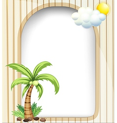 An empty template with a coconut tree vector