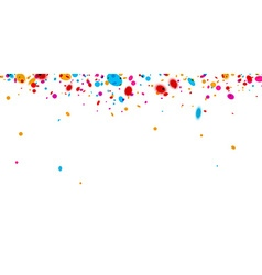 Banner with color confetti vector