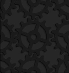 Black 3d complex gears vector