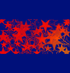 Blue background in red stars vector
