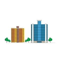buildings in city vector image
