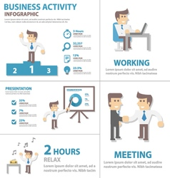 Business activity infographic elements vector image
