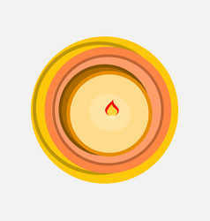 candle view from above wax flat style vector image