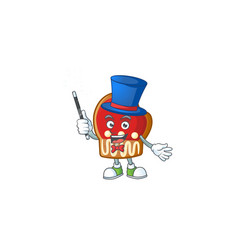 Cartoon character gloves cookies magician style vector