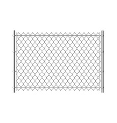chain link fence realistic metal mesh fences wire vector image