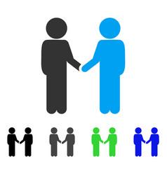 Children handshake flat icon vector