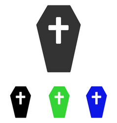 Coffin flat icon vector