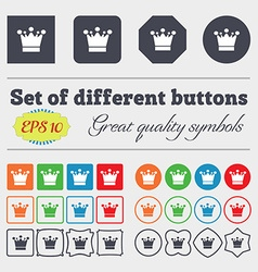 Crown icon sign Big set of colorful diverse vector