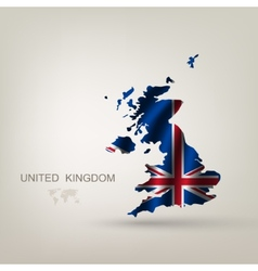 flag great britain as a country vector image