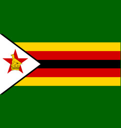 Flag in colors of zimbabwe image vector