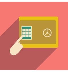 Flat design modern icon safe vector