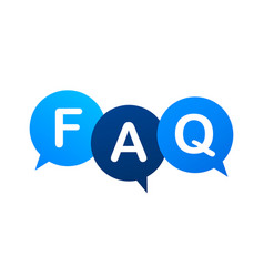 Frequently asked questions faq banner computer vector