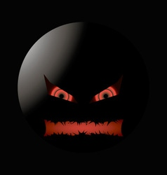 Halloween evil face with a toothy maw lighting vector