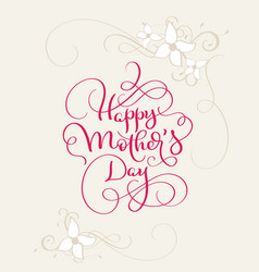 happy mothers day vintage red text with vector image vector image