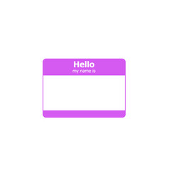 Hello my name is label sticker vector
