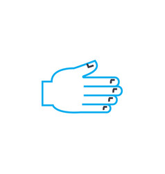 helping hand thin line stroke icon helping vector image