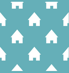 home pattern seamless blue vector image