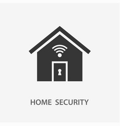 home security icon for vector image