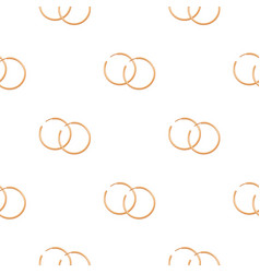 Hoop earrings icon in cartoon style isolated on vector