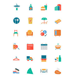 Hotel and Restaurant Colored Icons 8 vector image