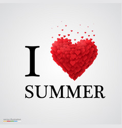 i love summer heart sign vector image