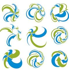 Infinite loop arrows abstract symbol set graphic vector